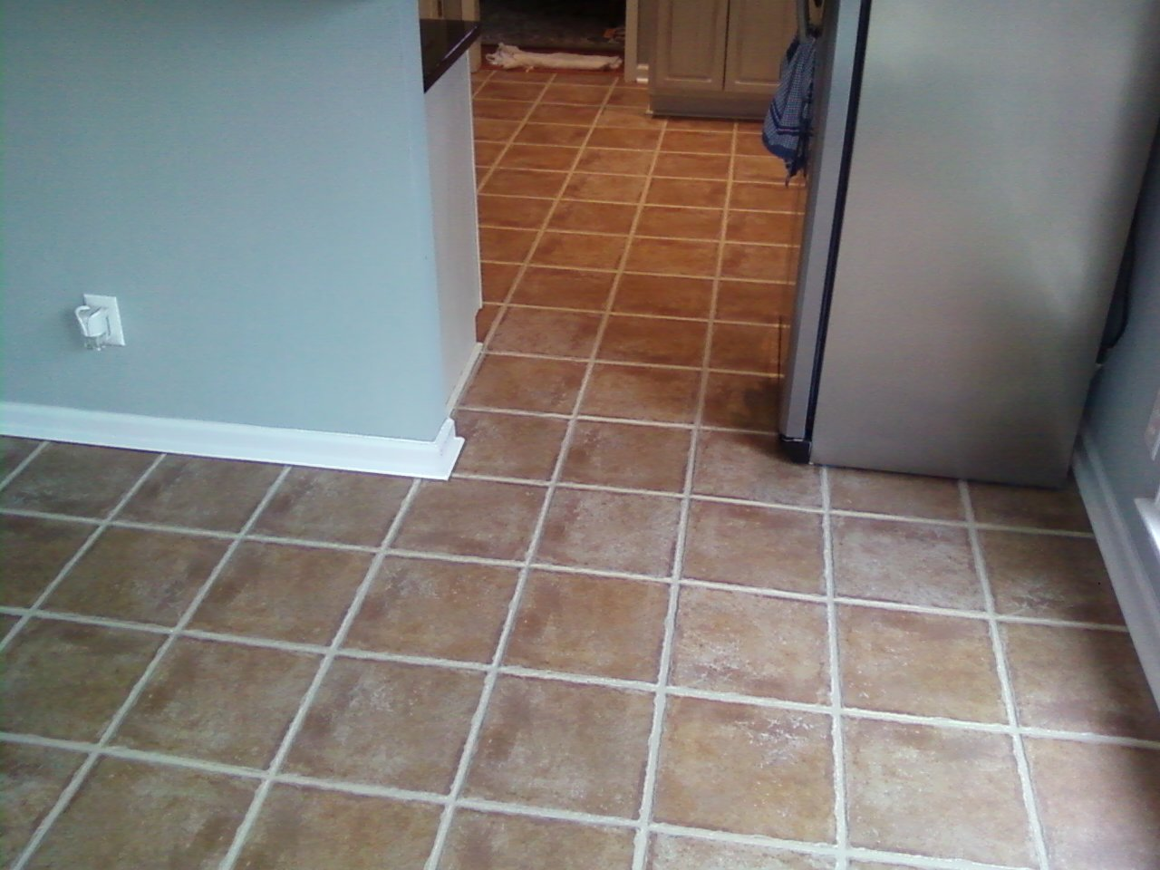 Color sealed tile and grout